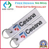 Custom Cheap Embroidery Fabric Keychain, Remove Before Flight Keychain