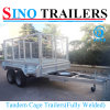 Galvanized 8*5 Tandem Trailers with Mesh Cage for Australian