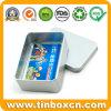 Silver Metal Tin Box for Bank Card Storage Boxes