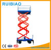 9meter Mobile Hydraulic Scissor Man Operate Lift Table with Solid Wheel