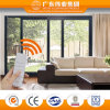 Double Glazing Tempered Glass Aluminum/Aluminium/Aluminio Electric Remote Control Sliding Doors and Windows