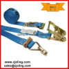 "2"" Double Stud Fittings Ratchet Strap 2"" X 20′ Blue"