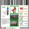 New Supermarket Shopping Cart with Advertising Frame