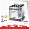 Commercial 4 Burner Gas Cooking Range with Gas Oven