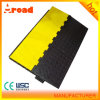 Ce Passed 5 Channel Floor Rubber Cable Protector, Cable Ramp