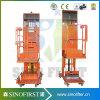 Foot Panel Control Electric Vertical Welding Lift Platform Aerial Oderpicker