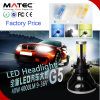 Pair Upgrade 80W 8000lm Single & Hi-Lo Beam Lamp Bulbs Car LED Headlight H7