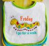 China Supplier OEM Produce Customized Friday Printed Cartoon Cotton Baby Bib