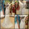 Lace Chiffon Evening Dress Gown V-Neck Mermaid Bridal Wedding Gown E13915