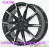 Black Machine Half Spoke Car Alloy Wheel Rims