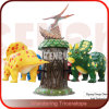 Dinosaur Amusement Park Facility Wandering Triceratops Rides
