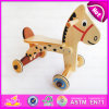 2016 New Design Baby Wooden Horse Walker, New Fashion Rocking Horse Baby Walker, High Quality Baby Walker W16A015