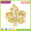 2015 New Wedding Invitation Gold Brooches Crystal Leaf Brooch
