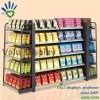 Double Sided Metal Wire Display Rack Supermarket Snack Shelf