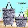 Foldable Oxford Shopping Trolley Bag for Outdoor Shopping with Wheels