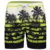 Beach Trunks Quick Dry Recreational Swimwear Shorts Coconut Tree Printing