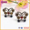 Custom Butterfly Jewelry Earring Stud with Czech Stones