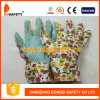 Ddsafety 2017 Flower Design Back Gardening Gloves with Green Dots on Palm