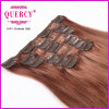 Top Grade 100g 20inch Virgin Indian Hair Clip in Layer Hair Extension