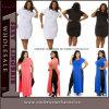 Fat Women Maxi Casual Party Prom Plus Size Dress (TMKF8163)