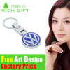 Kenya Customed Enamel Metal Keychain with OEM Silver Plating