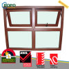 PVC Window Door Design for Homes, Wooden Color PVC Awning Window