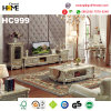 European Style Wood Furniture Marble Coffee Table, Champagne (HC999-1)