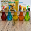 Factory Wholesale Glass Bulb Juice Bottle with Straw 100009