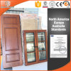 Round-Top Solid Red Oak Wood Interior Door, Pictures Crafted Wooden Window and Doors, Glass Wood Door