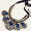 2015 Custom Jewelry Rhinestone Necklace, Fashion Choker Statement Necklace