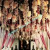 Crystal Clear Color Faceted Octagon Beaded Wedding Chain Curtains