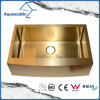 Gold Color Single Bowl Stainless Steel Handmade Kitchen Sink (ACS3021A1G)