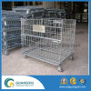 Industrial Storage Collapsible Stackable Metal Steel Wire Mesh Container