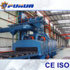 Engineer Install Q69 Steel Plate Shot Blasting Machine, Remove Rust Equipment