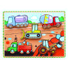 Wooden Thick Puzzle Toy for Baby with Engineering Vehicle (80497)