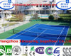 Comfortable Modular Interlocking Tennis Court Flooring