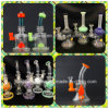 Newest Green and Pink Tobacco Glass Smoking Water Pipe
