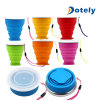 Travel Retractable Folding Cup Silicone Telescopic Collapsible with Lid