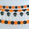 Halloween Decoration Tissue Paper Garland, Bat/Spider/Pumpkin/Wizard Garland