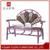 Purple Flower Outdoor Metal Chaise