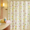 Clear Flowers PEVA Shower Curtain for Bathroom