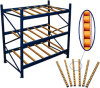 Pallet Flow Rack Designed to Suit Any Pallet Size for Storage