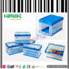 Clear Color Folding Plastic Storage Turnover Box with Lids