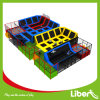 Big Indoor Gymnastic Trampoline with Basketball in Trampoline Arena
