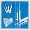 Disposable Medical Two-Parts Syringe with Needle in PE Package with CE, ISO, GMP, SGS, TUV