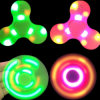 Finger Spinner Glow in The Dark Hand Gyro Bluetooth Speaker LED with ABS Hand Spinner