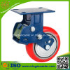 "5"" Heavy Duty Trolley Polyurethane Wheel Shock Absorption Caster"