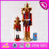 2015 Unique Christmas for Kids Toy, Cute Wooden Christmas Toy Wooden Nutcracker, Promotion Christmas Gift Toy Wholesales W02A063