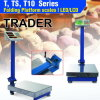 Folding Platform Scale with LED/LCD Display