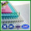 Clear, Seablue, Green, Light- Green, Darkbrown PC Polycarbonate Hollow Sheet